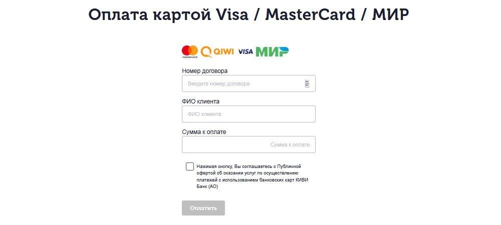 Оплата картой онлайн займов Хорошие деньги